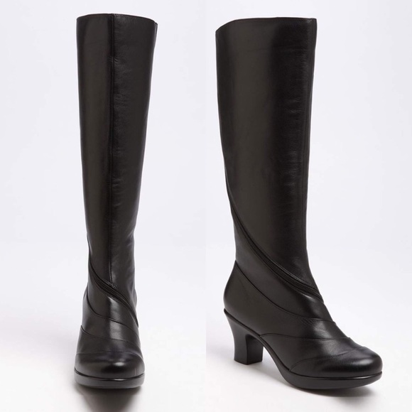 c57ab8217ba Dansko Shoes - New Dansko  Bentley  Black Leather Knee-High Boot